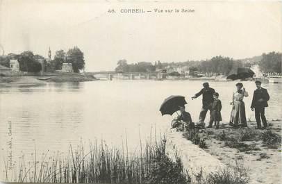 """CPA FRANCE 91 """"Corbeil, Vue sur la Seine""""."""