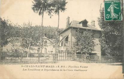 "CPA FRANCE 91 ""Chalo St Mars, Pavillon Suisse""."