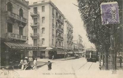 """CPA TUNISIE """"Tunis, avenue Jules Ferry"""""""