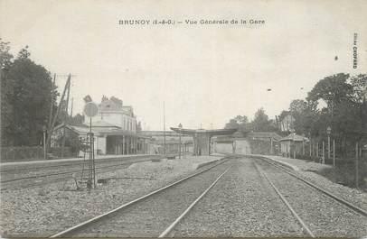 """CPA FRANCE 91 """"Brunoy, Vue générale de la gare""""."""