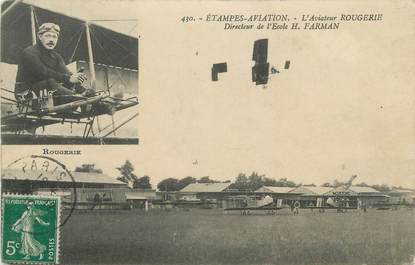 "CPA FRANCE 91 ""Etampes, L'aviateur Rougerie"". / AVIATEUR"