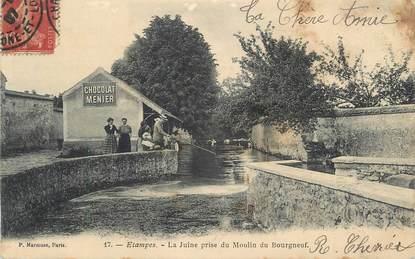 "CPA FRANCE 91 ""Etampes, La Juine prise du moulin du Bourgneuf""."