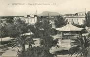 """Tunisie CPA TUNISIE """"Ferryville, Place de l'Amiral Guépratte"""""""