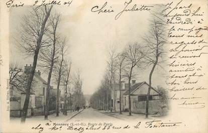 """CPA FRANCE 91 """"Mennecy, Route de Paris""""."""