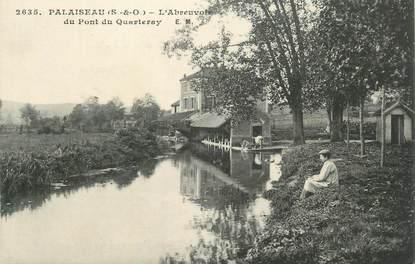 """CPA FRANCE 91 """" Palaiseau, L'abreuvoir du pont de Quarteray""""."""