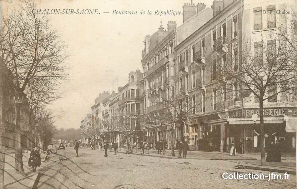 Cpa france 71 chalon sur sa ne boulevard de la for Plan de chalon sur saone 71