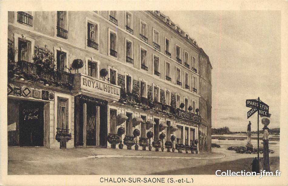 Cpa france 71 chalon sur sa ne royal h tel 71 sa ne for Plan de chalon sur saone 71