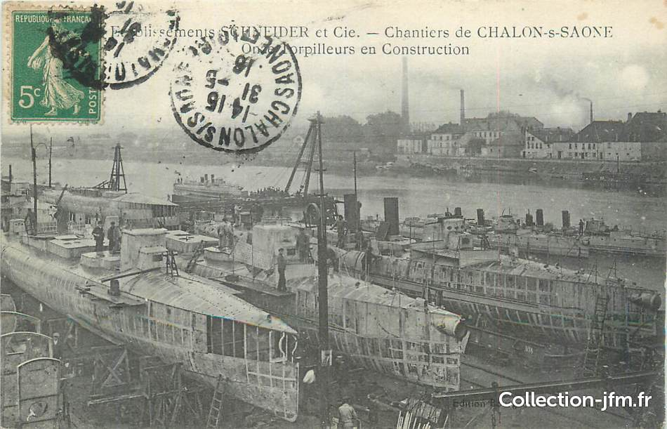 Cpa france 71 chalon sur sa ne etablissements schneider for Plan de chalon sur saone 71