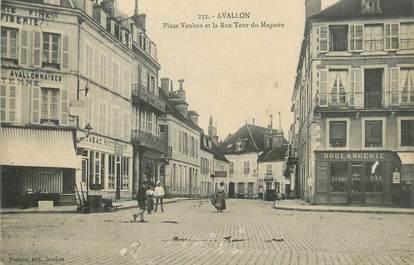 """CPA FRANCE 89 """" Avallon, Place Vauban et rue Tour du Magasin""""."""