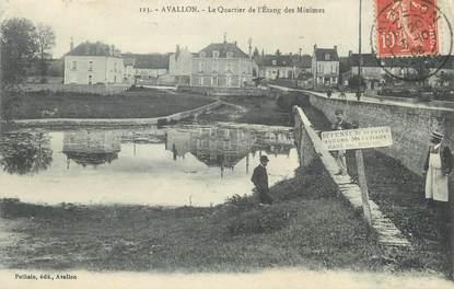 """CPA FRANCE 89 """" Avallon, Le quartier de l'étang des Minimes""""."""