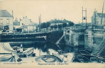 """CPA FRANCE 89 """" Migennes - Laroche, L'avant port""""."""