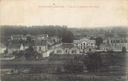 """CPA FRANCE 89 """" Migennes - Laroche, Vue sur le quartier du canal""""."""