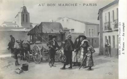 CPA PUBLICITE / Au Bon Marché / TABLEAU / Salon des Artistes 1912