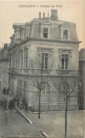 """.CPA FRANCE 26 """"Dieulefit, L'Hôtel de Ville""""."""