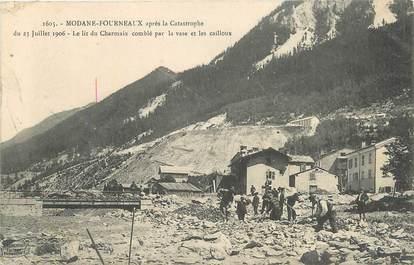 """CPA FRANCE 73 """" Modane Fourneaux, Le lit du Charmaix après la catastrophe du 23 juillet 1906""""."""