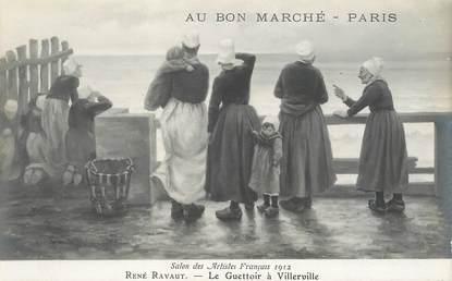 CPA PUBLICITE / Au Bon Marché / TABLEAU / Salon  des Artistes français 1912