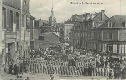 """CPA FRANCE 27 """"Bernay Le marché aux grains"""""""