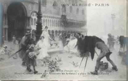 CPA PUBLICITE / Au Bon Marché / TABLEAU / Salon  des Artistes français  1913 / VENISE