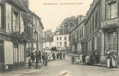 """CPA FRANCE 27 """" Rugles, Route de Rouen""""."""