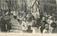 """71 SaÔne Et Loire CPA FRANCE 71 """"Cluny, Les fêtes de septembre 1910, Le cortège religieux"""". / FOLKLORE"""
