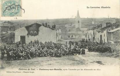 """CPA FRANCE 54 """" Fontenoy sur Moselle, Après l'incendie par les Allemands en 1971""""."""