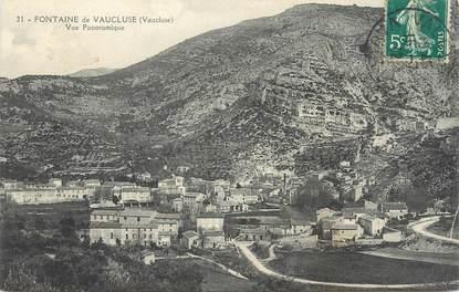 """CPA FRANCE 84 """"Fontaine de Vaucluse, Vue panoramique""""."""