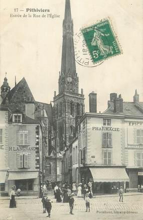 """CPA FRANCE 45 """" Pithiviers, Entrée de la rue de l'Eglise""""."""