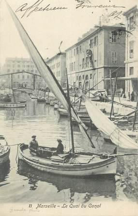 """CPA FRANCE 13 """" Marseille, Le quai du canal""""."""