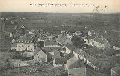 "CPA FRANCE 61 ""La Chapelle Montligeon, Vue panoramique du bourg""."