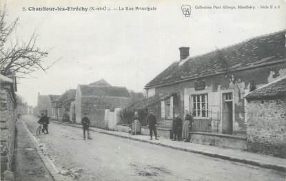 """CPA FRANCE 91 """"Chauffour les Etréchy, La rue principale""""."""