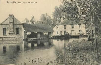 """CPA FRANCE 91 """"Argeville, Le Moulin""""."""
