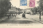 "33 Gironde CPA FRANCE 33 ""Libourne, Place Joffre et Place Roudier"""