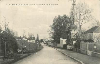 """CPA FRANCE 77 """" Chartrettes, Route de Rouillon""""."""