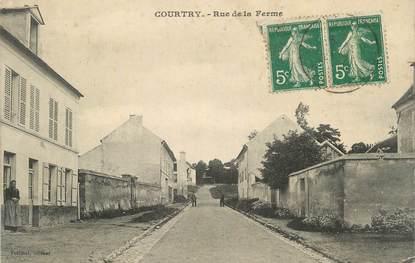 """CPA FRANCE 77 """" Courtry, Rue de la ferme""""."""