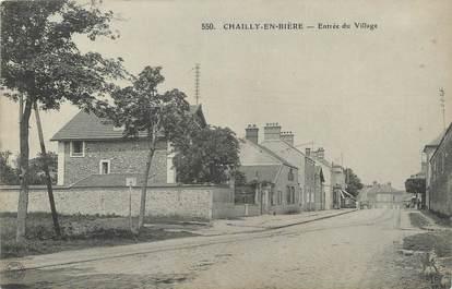 """CPA FRANCE 77 """" Chailly en Bière, Entrée du village""""."""
