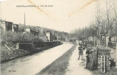 """CPA FRANCE 77 """" Crouy sur Ourcq, Vue du canal""""."""