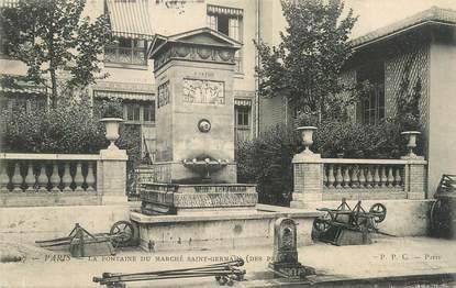 """CPA FRANCE 75 """" Paris, La fontaine du marché St Germain""""."""
