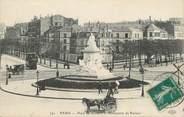 """75 Pari CPA FRANCE 75 """" Paris, Place de Breteuil et le monument Pasteur""""."""