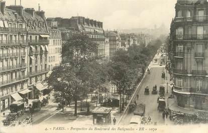 """CPA FRANCE 75 """" Paris, Perspective du Boulevard des Batignoles """"."""