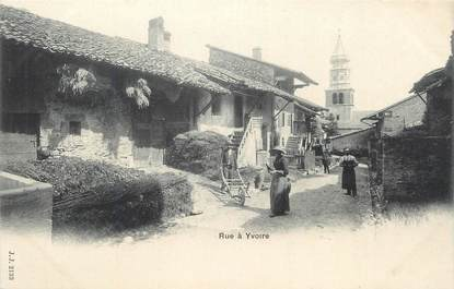 """CPA FRANCE 74 """"Yvoire, Une rue""""."""