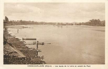 """CPA FRANCE 58 """" Cosne sur Loire, Les bords de la Loire en amont du pont""""."""