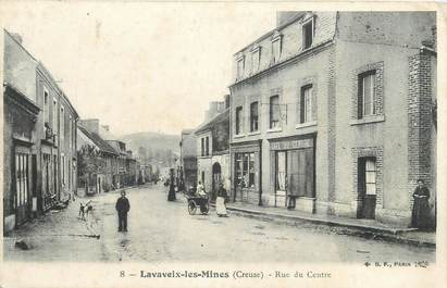 """CPA FRANCE 23 """" Lavaneix Les Mines, Rue du Centre'."""