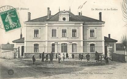 """CPA FRANCE 69 """" Gleizé, La Mairie et les écoles""""."""