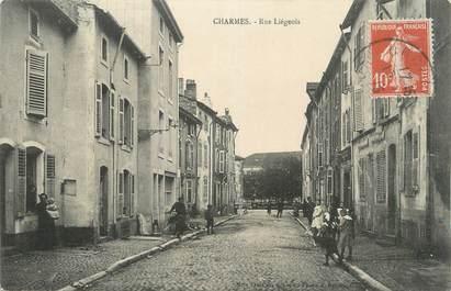 """CPA FRANCE 88 """" Charmes, Rue Liégeois""""."""