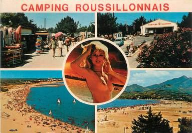 """CPSM FRANCE 66 """" Argelès Plage, Camping Roussillonais et ses plages""""."""