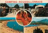 """66 PyrÉnÉe Orientale CPSM FRANCE 66 """" Argelès Plage, Camping Roussillonais et ses plages""""."""