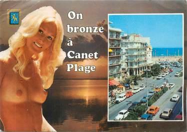 """CPSM FRANCE 66 """" Canet Plage, Avenue de la Méditerranée""""."""