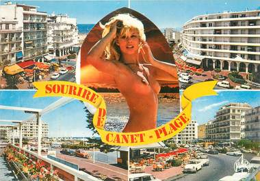 "CPSM FRANCE 66 "" Canet Plage, Vuues""."