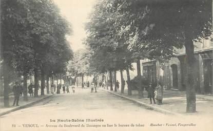 """CPA FRANCE 70 """"Vesoul, Avenue du Boulevard de Besançon""""."""