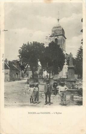 """CPA FRANCE 70 """"Roche sur Vannon, L'église""""."""